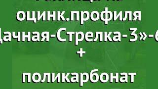 Теплица из оцинк.профиля «Дачная-Стрелка-3»-6м (Воля) + поликарбонат обзор твп092