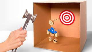 DIY KIck the Buddy Game from Cardboard