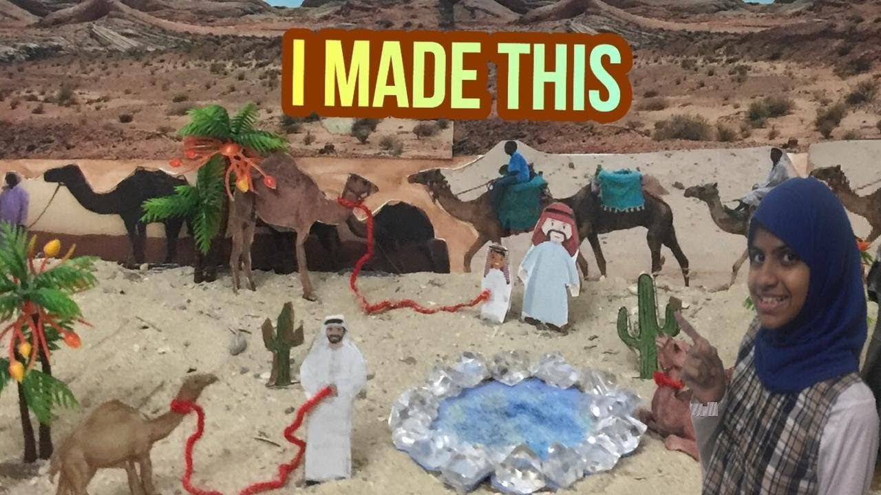 DIY : How to make model of desert for school project REALISTIC DESERT  DIORAMA