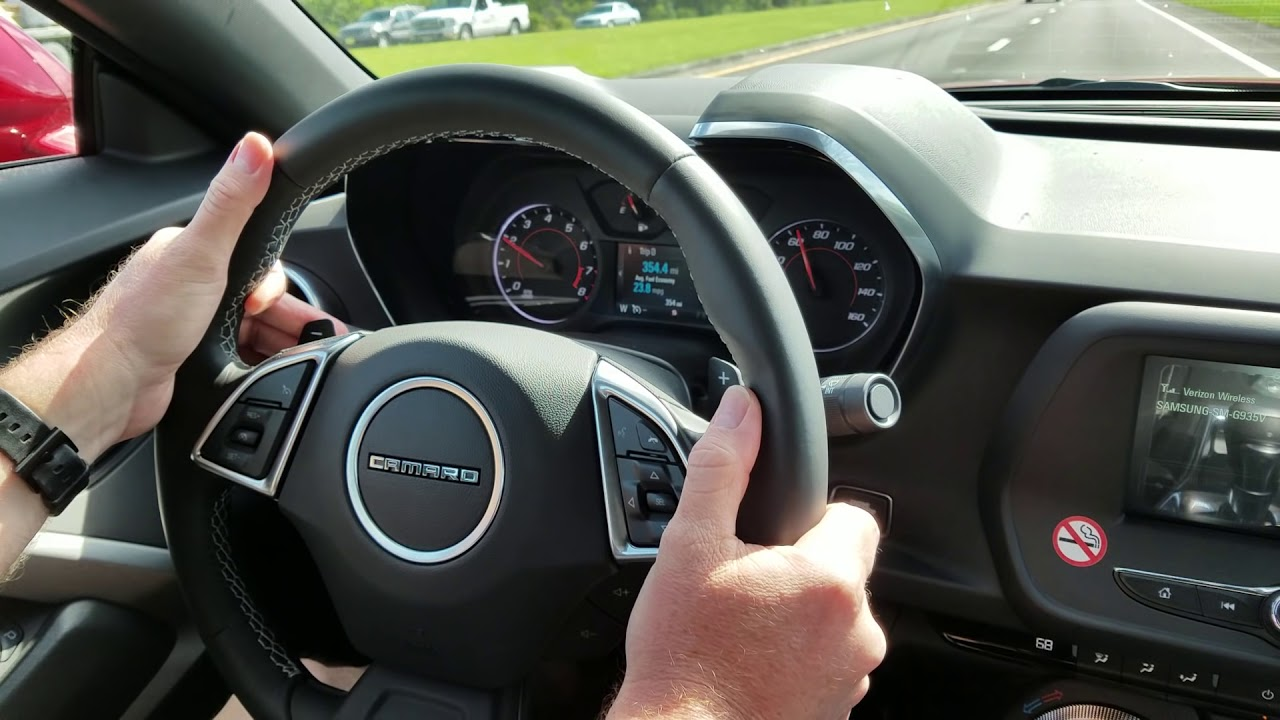 2017 Camaro Paddle Shift Youtube