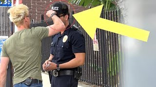 STEALING A COPS HAT!!! (Do Not Attempt This!)