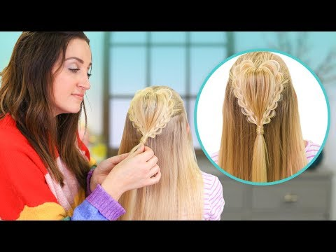How to Create a FLUFFY HEART Braid | 2019 Valentine's Day Hairstyles