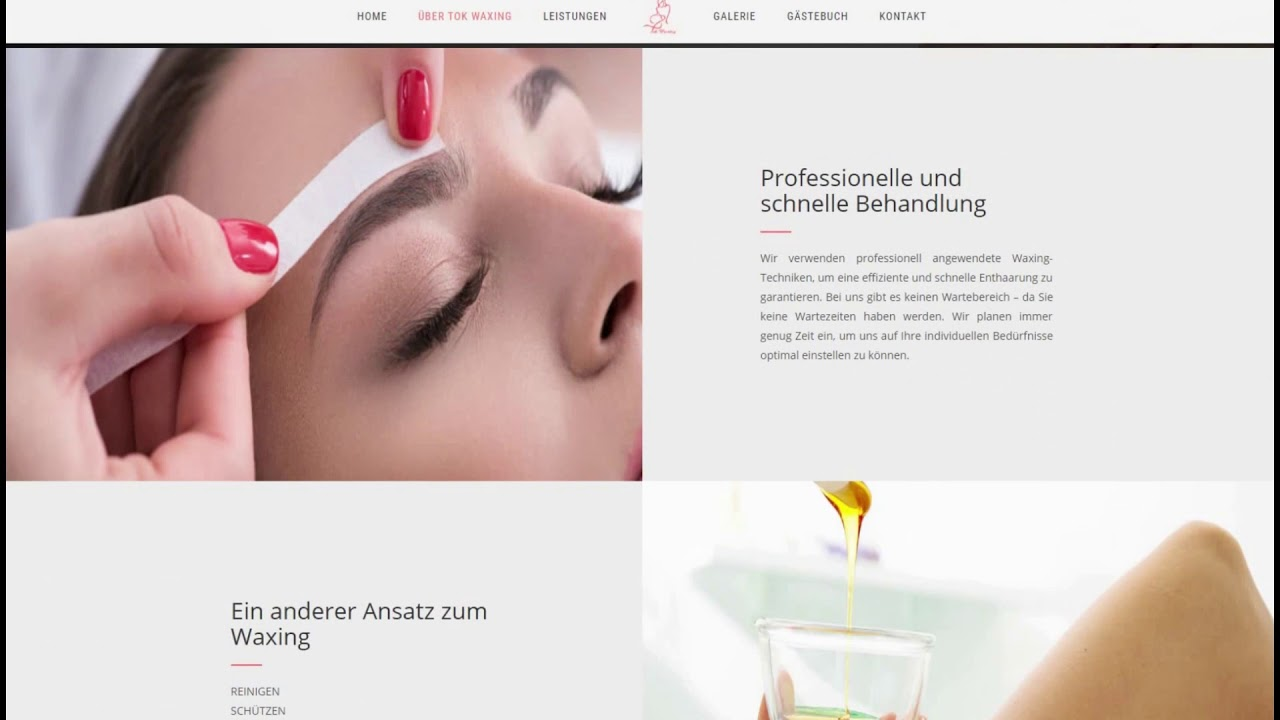 Website for a Salon Service Provider from Deutchland - YouTube