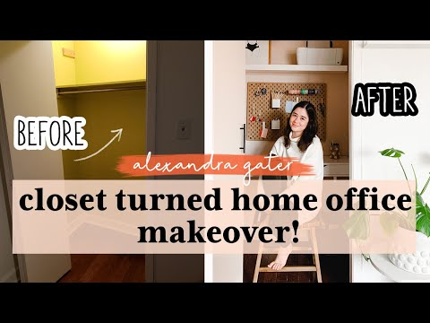i-turned-my-closet-into-a-home-office!-|-small-space-office-makeover