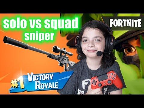 Fortnite-Virei Um Atirador De Elite Com A NOVA Sniper Silenciada No Solo Vs Squad !!!