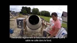 Comment faire un mélange de mortier pour poser des parpaings.