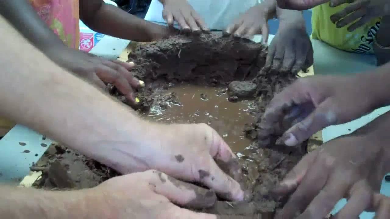 Building a model adobe house