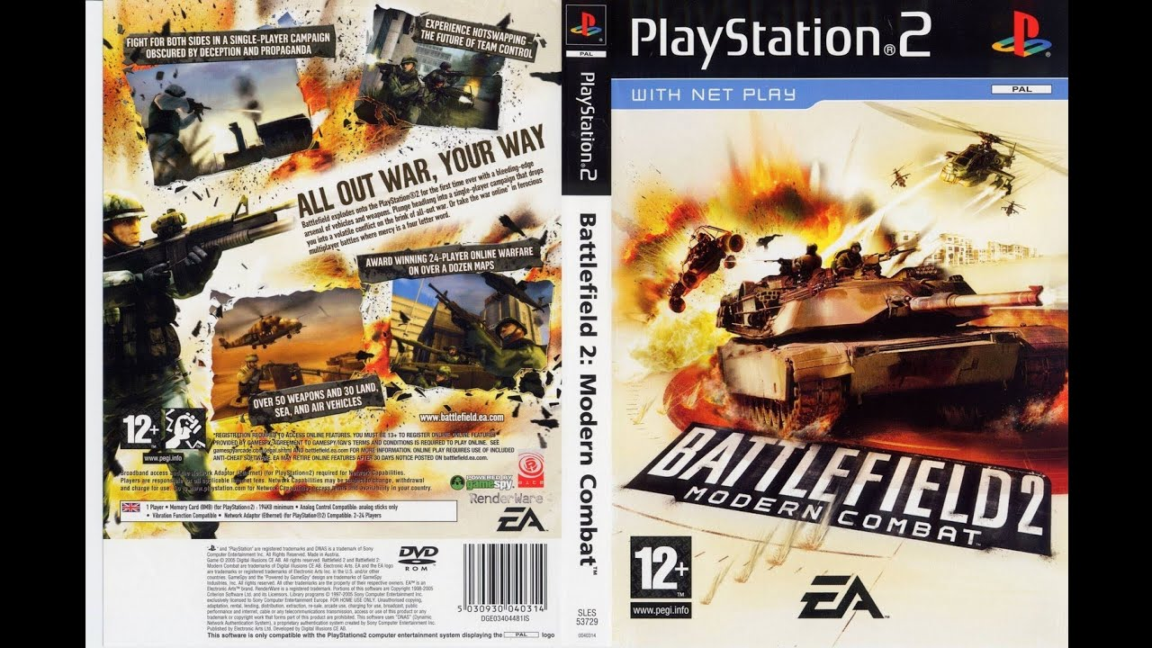 Battlefield 2 Modern Combat Ps2 On Ps3 60gb Gameplay Hd 1080p