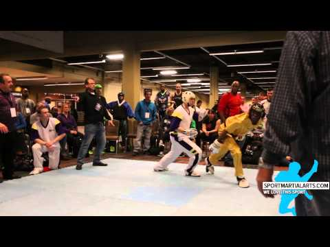 Tyler Hall vs Micah Williams Jr - Mens Team Sparring - AKA Warrior Cup 2015