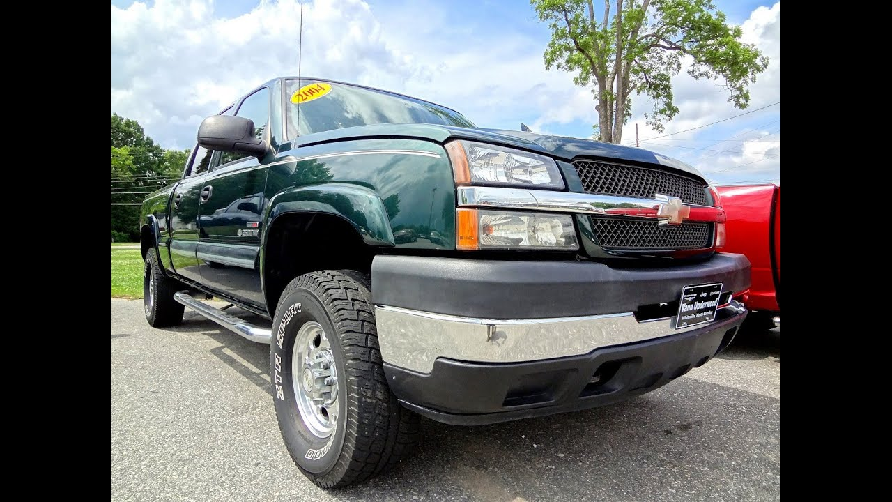 2006 Chevy Silverado 2500hd >> 2004 CHEVROLET SILVERADO 2500HD CREW CAB Green - YouTube