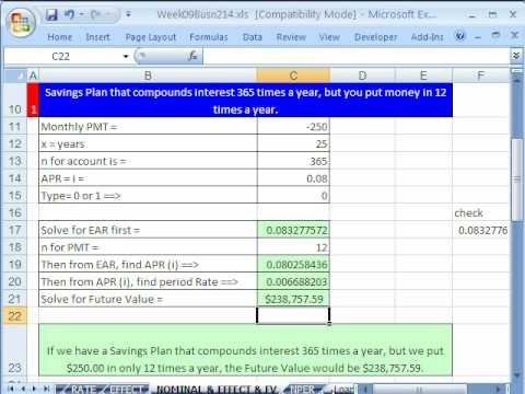 Highline Excel Class 48: Interest Rates 6 Examples
