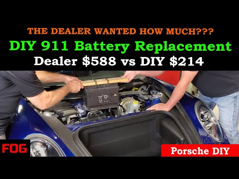 DIY Porsche 911/991 Battery Replacement (How to save $374.00)