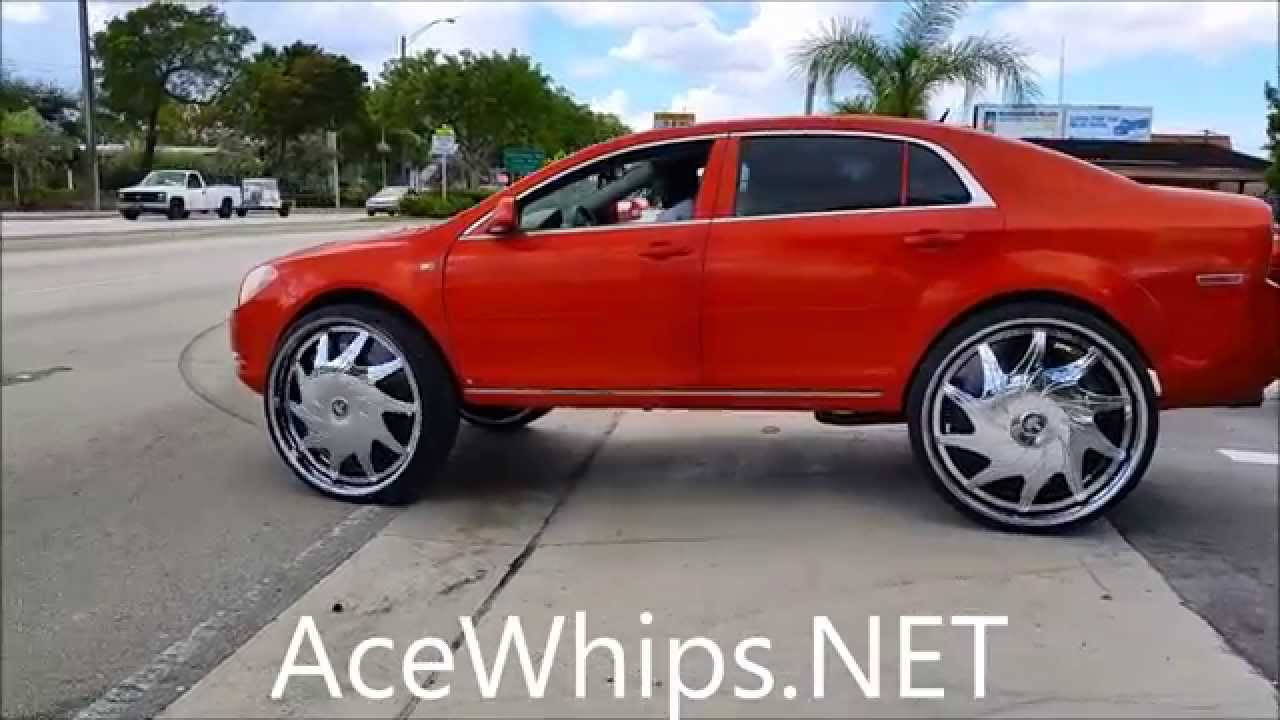 Acewhips Net First Chevy Malibu On 30 Quot Dub Mercy Floaters