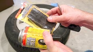 How To Fix A Flat Tire With A Tire Plug Kit -  Car Tire Repair