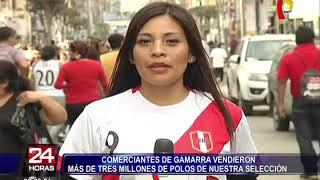 Gamarra: comerciantes vendieron más de 3 millones de camisetas de la 'Bicolor'