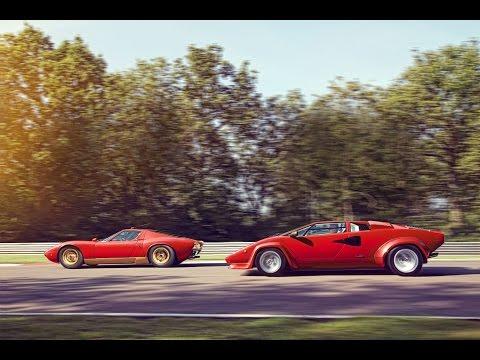 Lamborghini Miura and Countach: the Lambo legends meet