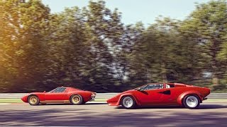 Lamborghini Miura and Countach: the Lambo legends meet