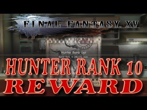 Monster Hunter Rank 10 - Final Fantasy 15 (Max Hunter Rank + Dark Matter Bracelet)