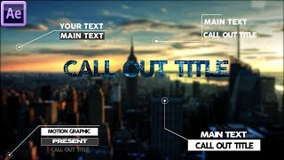 Create Call Out After Effects Tutorial