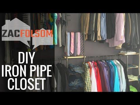 DIY Industrial Iron Pipe Closet Unit