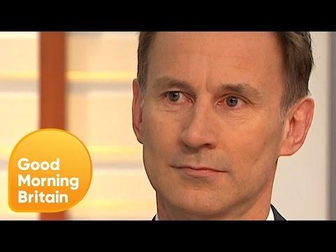 Jeremy Hunt Defends Tories Over NHS 'Mismanagement' | Good Morning Britain