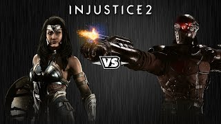 Injustice 2 - Чудо-Женщина против Дедшота - Intros & Clashes (rus)