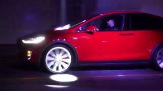 Tesla Model 3 Test Drives At Tesla Model 3 Unveiling