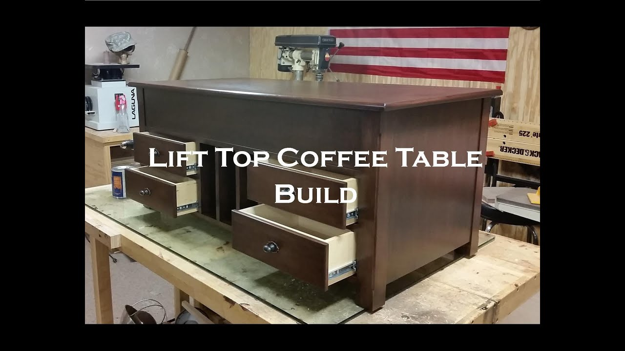 Lift Top Coffee Table Build YouTube