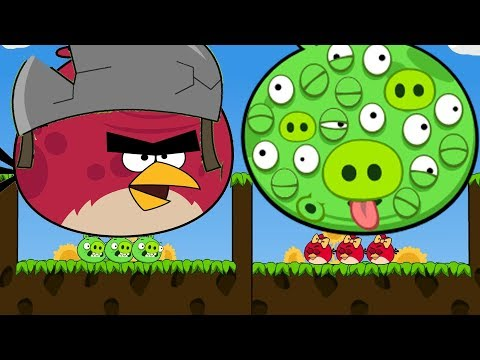 Angry Birds Cannon 3 - RESCUE ALL GIRLFRIEND BIRDS BY KICKING 100 EYES PIGS!