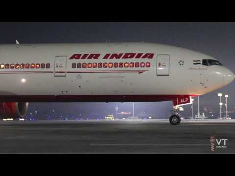 Heavy Departures from Mumbai Airport at Night