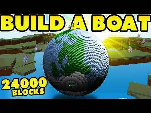 PLANET EARTH in Build a Boat (24,840 Blocks) *World Record*