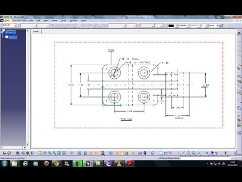 Catia V5 Drafting|Generative & Interactive|Setting ISO Standards|Beginner's Tutorials