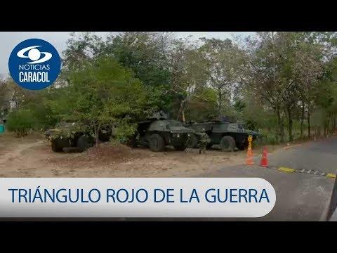 El 'triángulo rojo de la guerra', la zona de Arauca donde se siente el conflicto | Noticias Caracol