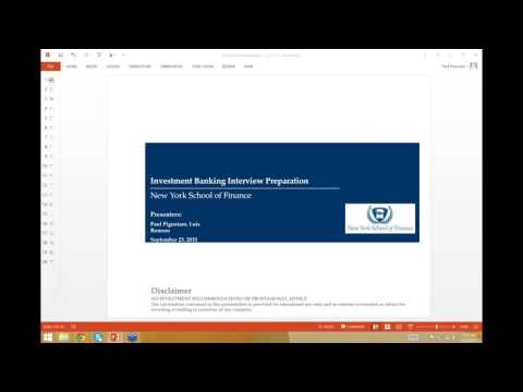 Investment Banking Interview Preparation - 9_23_15