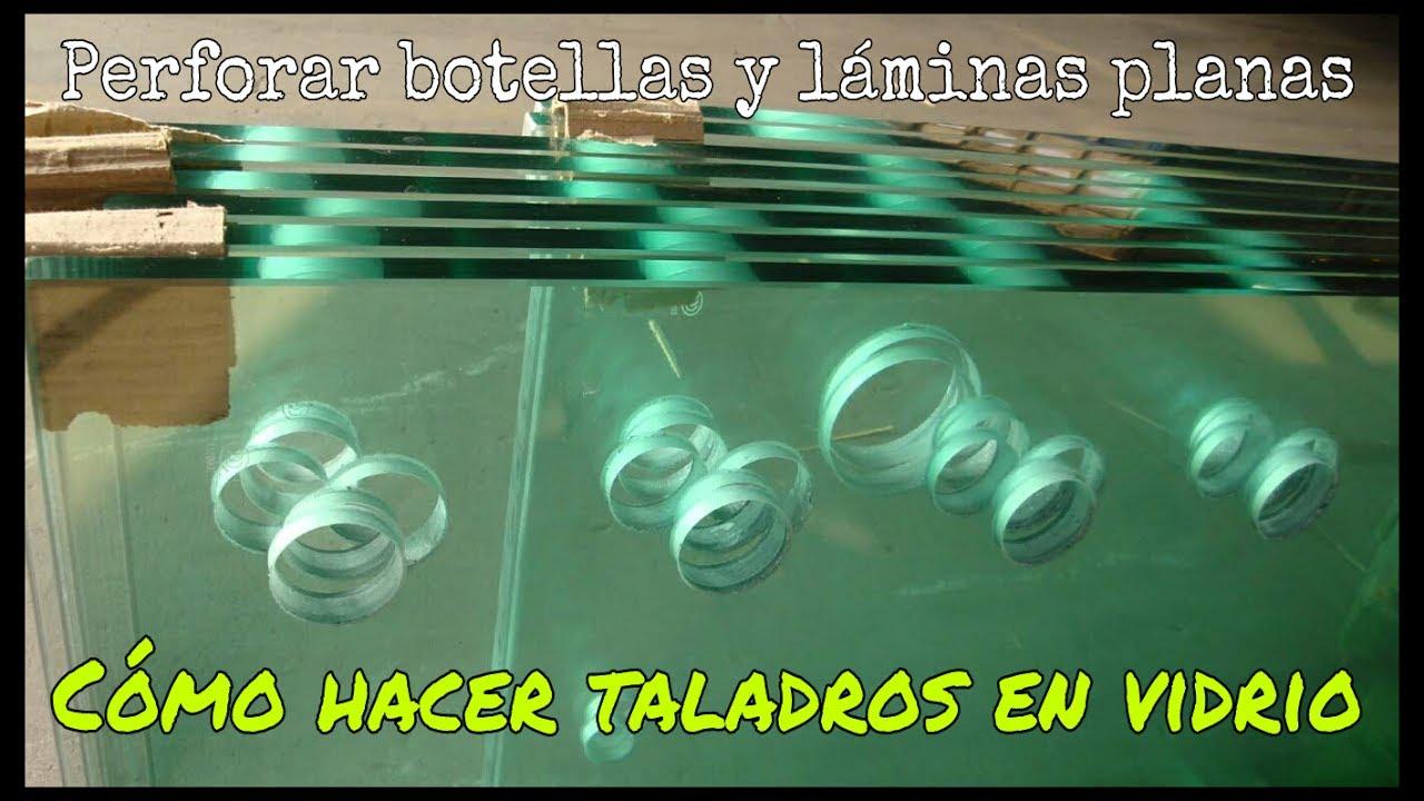 C mo hacer taladros en vidrio o cer mica botellas bot - Como poner fibra de vidrio ...