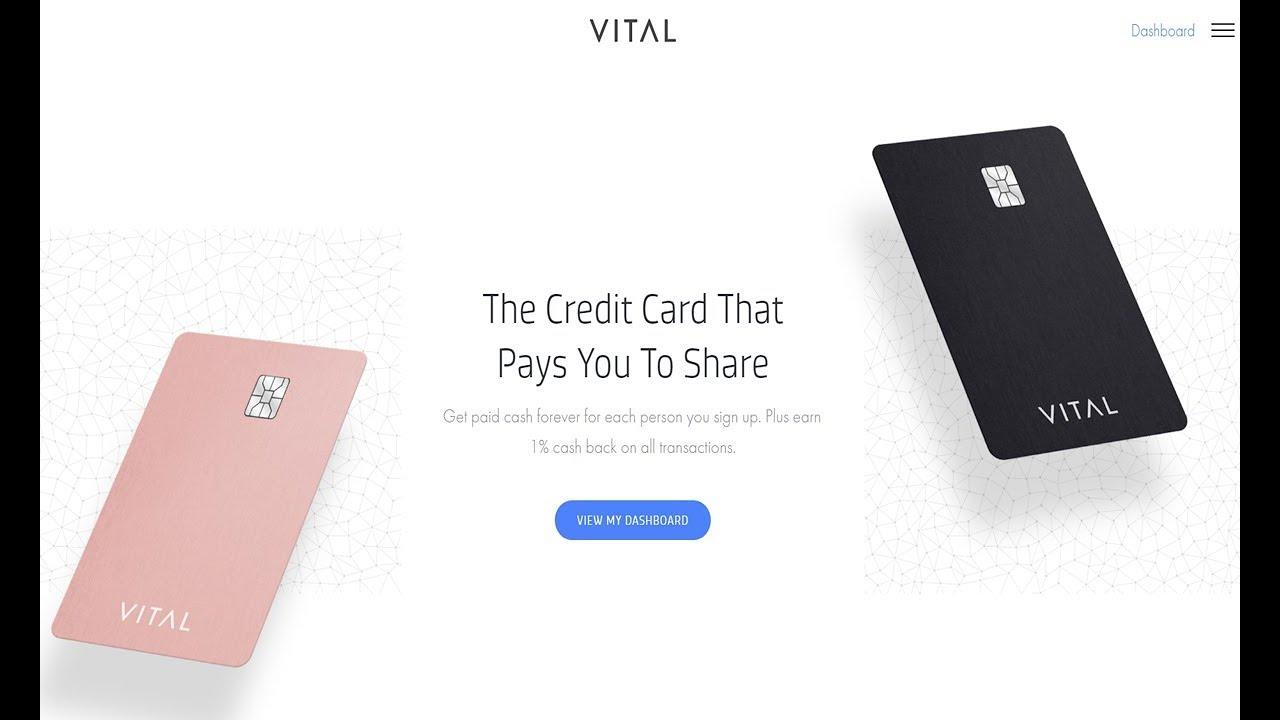 Vital Credit Card Referral Program - YouTube