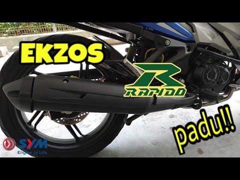 Tukar Ekzos Rapido senang2 top speed naik 150km/h.