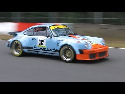 Porsche 911 turbo in Zolder bei der Youngtimer Trophy