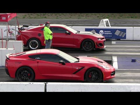 ZL1 Camaro vs Corvette C7 – drag racing