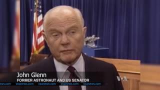 Astronaut John Glenn Praised for Bravery, Service to Country