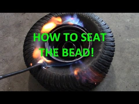 How To Seat The Bead On A Tubeless Tire Youtube