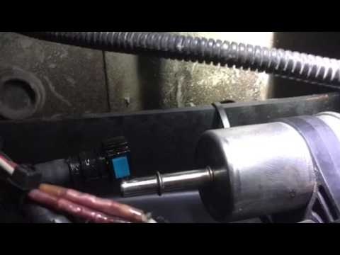 Fuel filter change on F-250 - YouTube