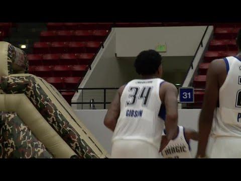 Xavier Gibson Posts 14 points & 10 rebounds vs. Reno Bighorns
