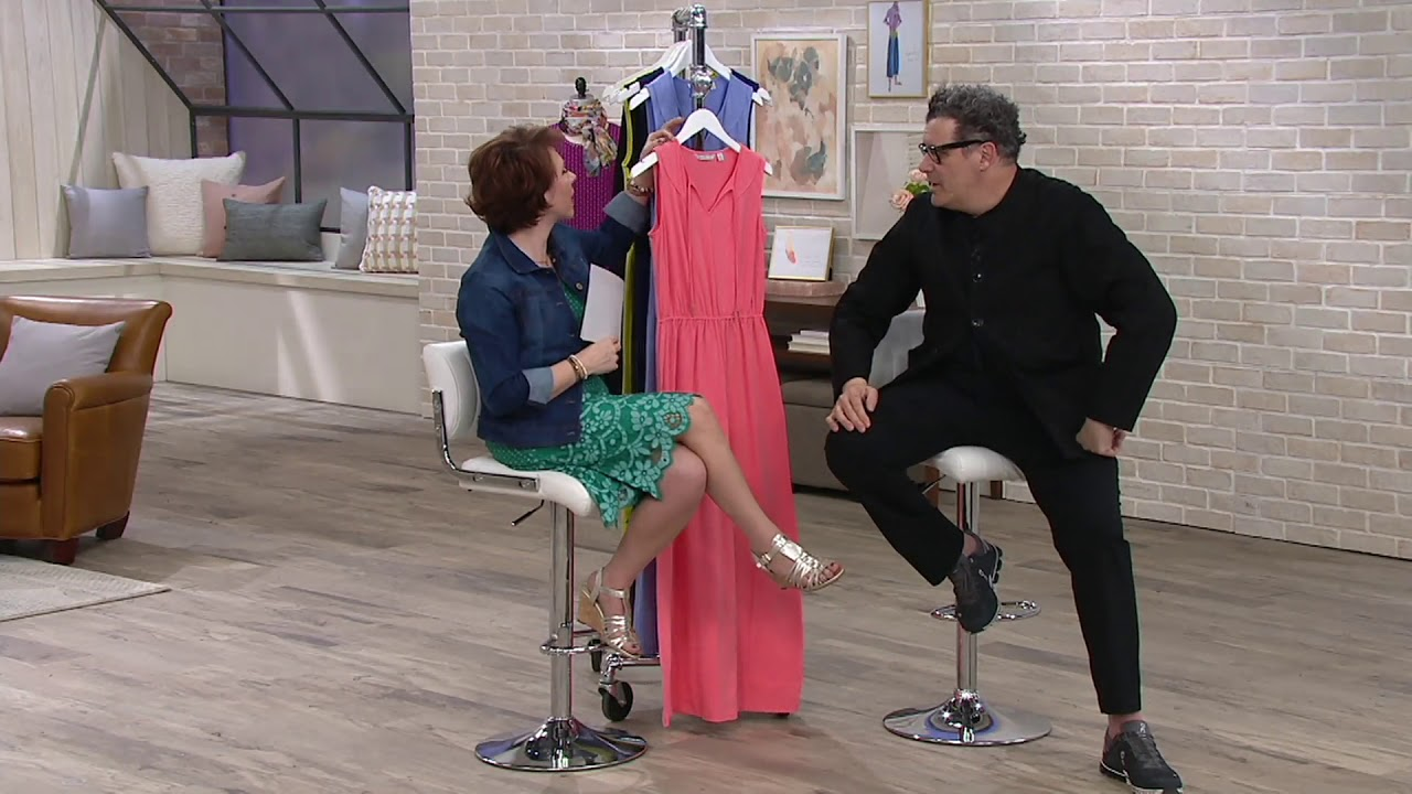 5f46c87be67 Isaac Mizrahi Live! Split V-neck Knit Maxi Dress on QVC - YouTube
