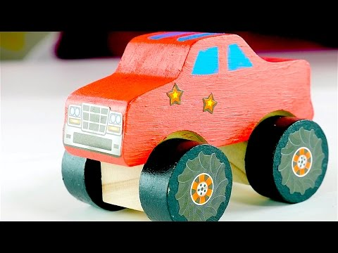 Thumbnail: Big trucks for kids - Monster Truck - Colors for kids - Bobby the Paint Brush