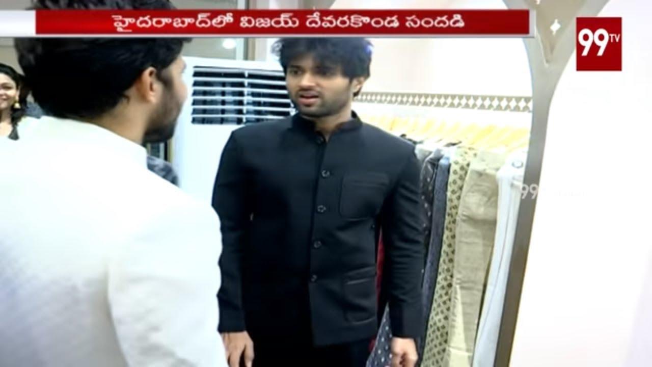 Tollywood Hero Vijay Devarakonda Launches Cloth Showroom at Banjara Hill | Hyderabad | 99TV Telugu