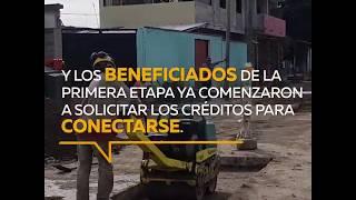 Vecinos de Villa El Libertador ya acceden a créditos para red cloacal