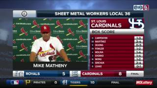 Matheny on Rally Cat: 'I'm not a cat person, but I sure like that one'