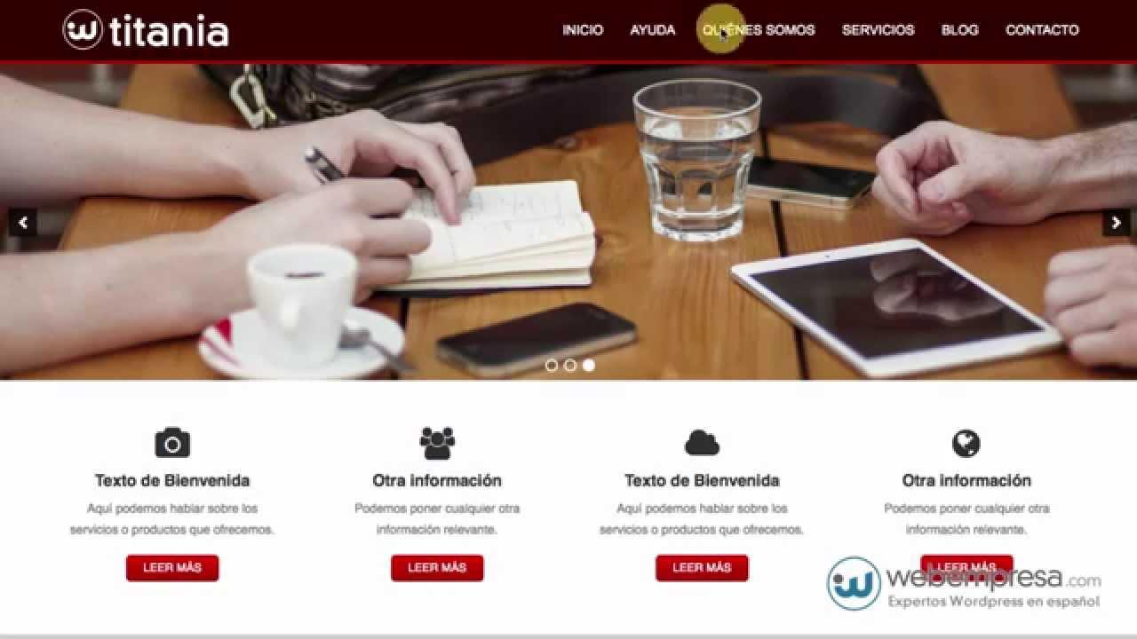 Descargar WordPress Español y con Plantilla Gratis - Quickstart ...