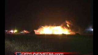 05/15/09 Incredible Tank Battery Explosion from 200 yards away! Lamesa, TX (in West Texas)
